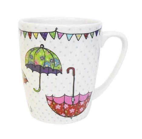 caravan trail umbrellas mug
