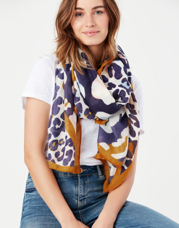 joules leopard print scarf