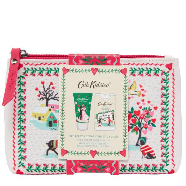 cath kidston festive cosmetic bag hand cream and hand spray