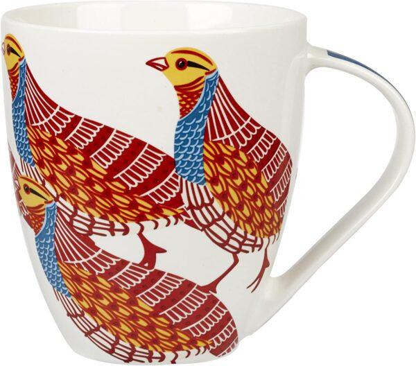 paradise birds partridge mug